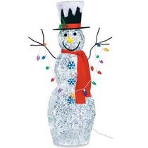 Mono Nieve Muñeco Inflable Adorno Navidad Con Luces Navideño