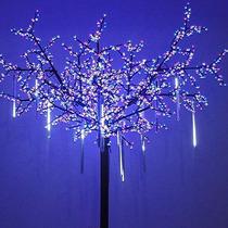 8 Luces Lluvia Dropicicle Snow Fall String Led Arbol Navidad