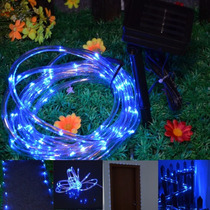 Manguera De 50 Luces Led Solares. Navidad - Colores