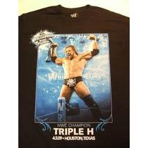 Wwe Playera Triple H Conmemorativa En Liquidacion