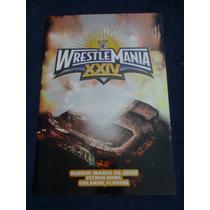 Wwe Programa Wrestlemania 24 Tour Book