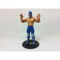 Blue Demon Lucha Libre Figura Custom En Base Luchador