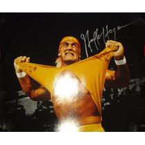 Poster Autografiado Firmado Hulk Hogan Wwe Wwf Wrestlemania