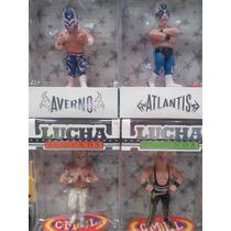 Lucha Libre - Figuras De Coleccion (cmll) 4pzas