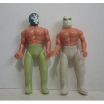 Dos Caras Y Mistico - Cmll Luchador Plastico Inflado Juguete