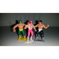 Lucha Libre - Lote Mini Figuras De Ricolino Antiguas Vintage