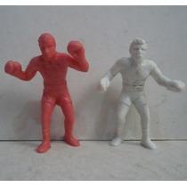 Raton Macias Y Kid Azteca Box - Juguete De Plastico Figura