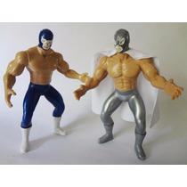 Santo Y Blue Demon. Luchadores De Plástico.