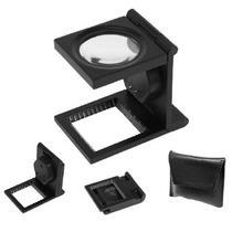 Lupa Cuentahilo De Metal Y Vidrio Y Luz Led Lente 5x 30mm