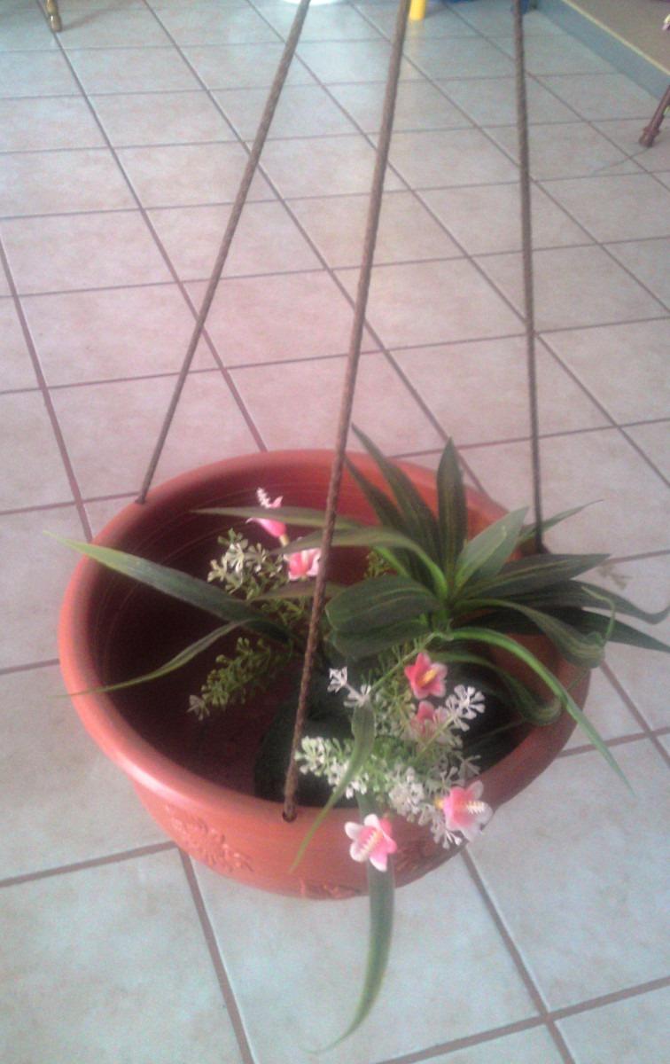 Maceta colgante de plastico decoracion jardin flores ata - Decoracion de macetas de plastico ...