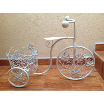 Macetero Tipo Triciclo Con Flores