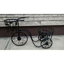 Macetero Triciclo Con Dos Canastillas