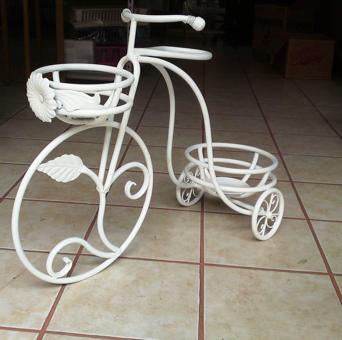 Macetero triciclo herreria casa jardin decoracion mesas for Articulos decorativos para jardin