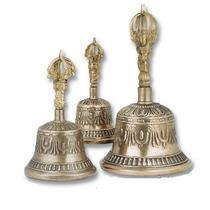 Campana Tibetana Mediana, Unica Con Aleacion De 7 Metales