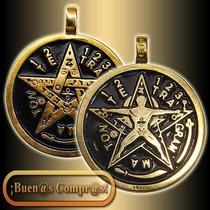 Dije Pentagrama Esotérico, Hecho En 7 Metales.