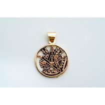 Pentagrama En Chapa De Oro De 18k,unico Aleacion D 7 Metales