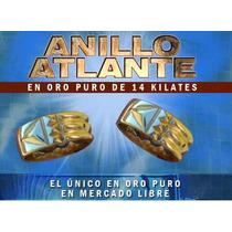 Anillo Atlante Autentico En Oro De 14k,protegete De Todo Mal