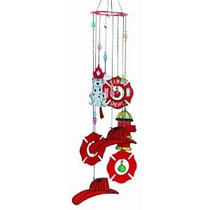 Spoontiques Metal Bombero Wind Chime