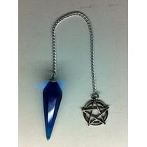 Pendulo Cristal De Roca Con Pentagrama Wicca Celta Mawiluz
