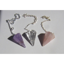 Pendulo Cristal De Cuarzo Natural Con Instructivo