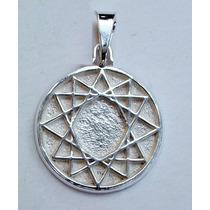 Estrella De 12 Puntas,amuleto De Protección En Plata Ley 925