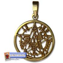 Pentagrama De Oro 14 Kilates - Maxima Proteccion Vs Daños