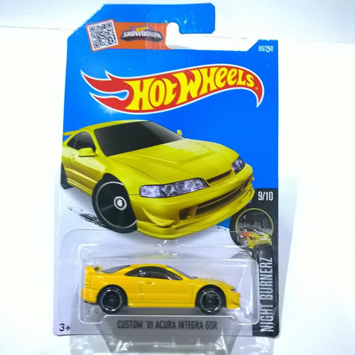 Magnifico Hot Wheels Custom 01 Acura Integra Gsr Del 2016