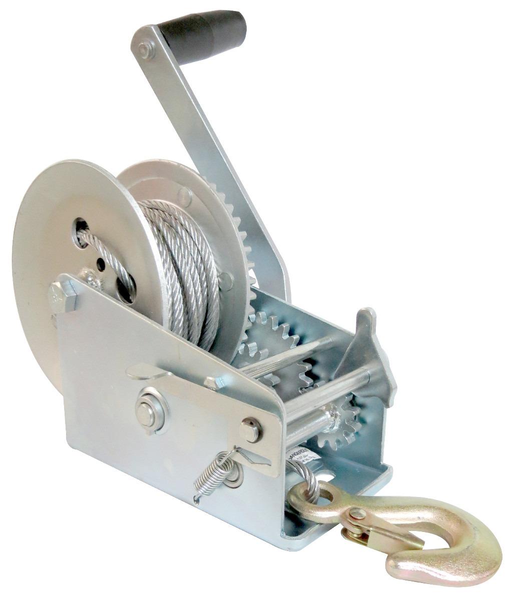 malacate winch manual galvan 600 lbs o 270 kilos y cable 10m