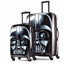 Set De 2 Maletas Star Wars 21 Y 28 Pulg Viaje Equipaje Negro