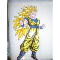 Dragon Ball Goku Dibujo Acetato Anime Manga Pintado A Mano