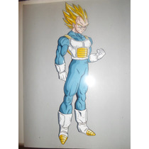 Dragon Ball Vegeta Dibujo Acetato Anime Manga Pintado A Mano