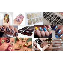 1 Kit Manicure Calcomania Decoracion Esmalte Uña Sticker Au1