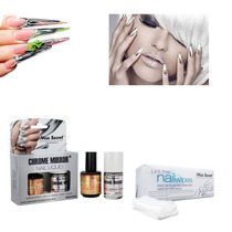 Kit Esmalte Efecto Espejo+luxury+100 Nail Wipe Chrome Mirror