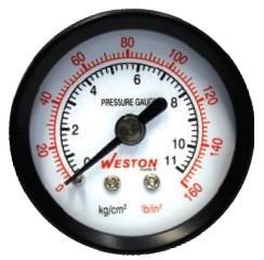 Manometro de presi n 1 1 2 1 8 npt posterior nuevo for Manometro para medir presion de agua