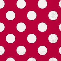 16 Contador Lunares Rojos Almuerzo Servilletas