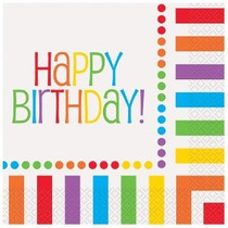 Rainbow Cumpleaños Almuerzo Servilletas 16ct