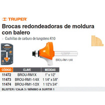 Broca Para Router Redondeado Con Moldura 1-1/2 Con Balero