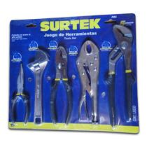 Oferta Juego De Pinzas Para Mecánico 5 Piezas P05 Surtek Hm4
