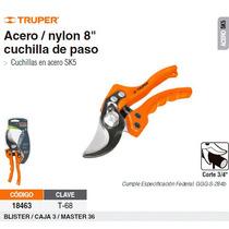 Tijera Para Poda 8 Acero/nylon Cuchilla De Paso