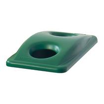 Tapa Reciclaje Latas Y Botellas Plástico Verde 11-5/16