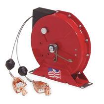 Riel De Cable (doble Pinza) Retroceso De Resorte 50 Rojo