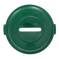 Cubierta Reciclar Ranura Papel Hdpe Verde 22-1/4