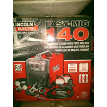 Maquina De Microalambre Lincoln 140 Para Soldar Con Y Sin Ga
