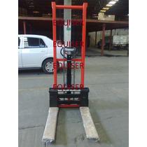 Montacargas Manual Pasillo Angosto Capacidad 1,500kg
