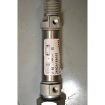 5 Piezas, Actuador Cilindro Neumatico 15mm Carrera 16mm Diam