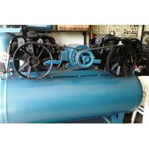 Compresor Rogers Duplex 15 Hp. 500 Lts Trifasica 6 Pistones
