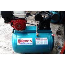 Compresor Rogers A Gasolina 13hp. Tanque De 300 Litros Movil