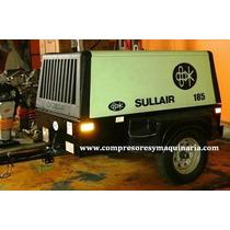 Mpresor De Aire Marca Sullair 185 Q, Motor Johon Deere