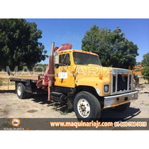 Grua Articulada Hiab 5 Tons Camion International 1992 Hiab