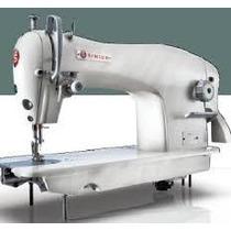 Máquina Singer Recta Industrial Con Mueble Y Motor 191d-20